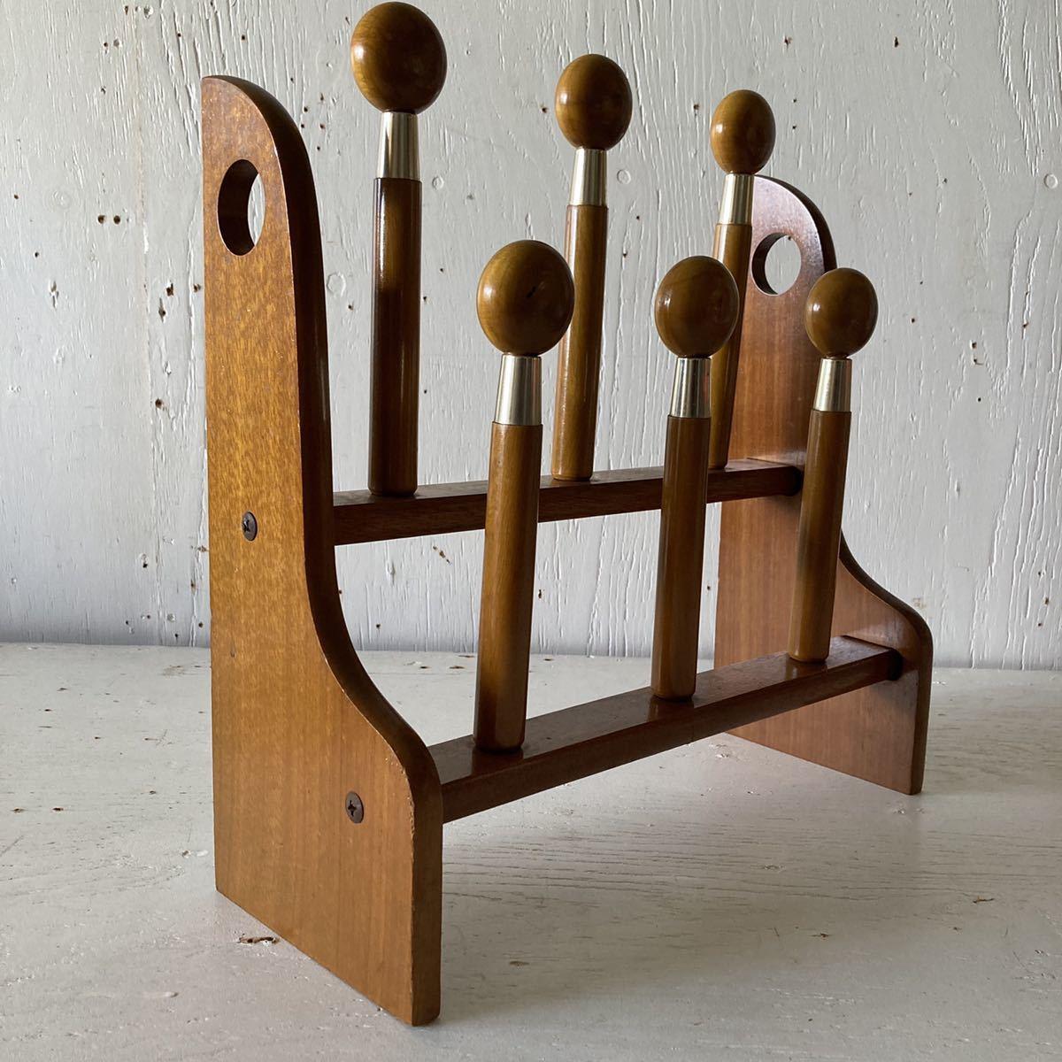 昭和レトロ スリッパラック インテリア ビンテージ 古道具 ディスプレイ 店舗什器 70年代 _画像1