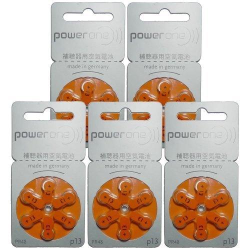 オレンジ 13 Power one[パワーワン] PR48 補聴器用空気電池(p13) 5シートセット_画像2