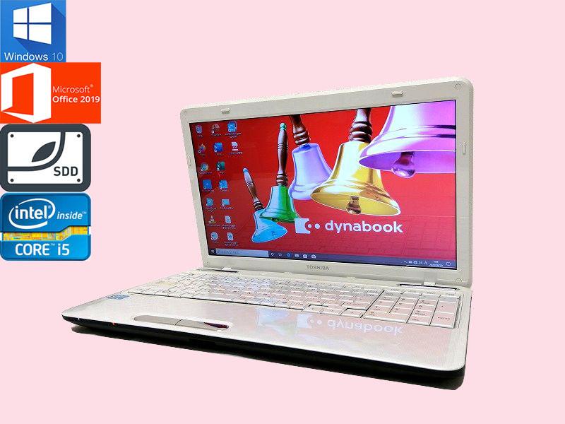 最新Windows10 東芝 ノートPC dynabook_T451/46DW SSD480GB メモリ4GB(即決8GB) Core-i5