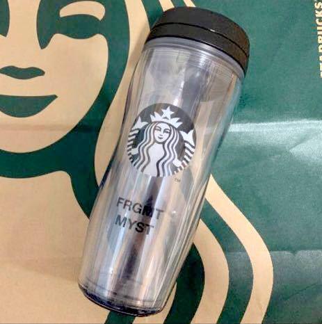 送料無料 クリア Starbucks fragment ボトルロゴ FRGMT MYST 藤原ヒロシ スターバックス フラグメント ボトル タンブラー スタバ 宮下_画像1
