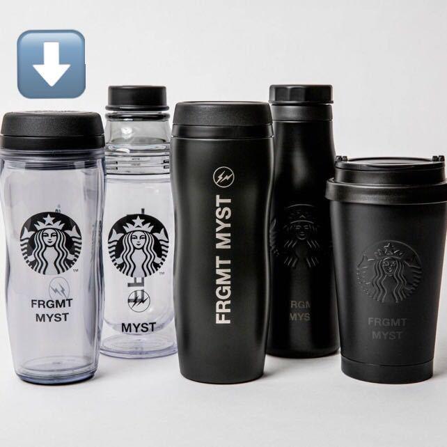 送料無料 クリア Starbucks fragment ボトルロゴ FRGMT MYST 藤原ヒロシ スターバックス フラグメント ボトル タンブラー スタバ 宮下_画像2