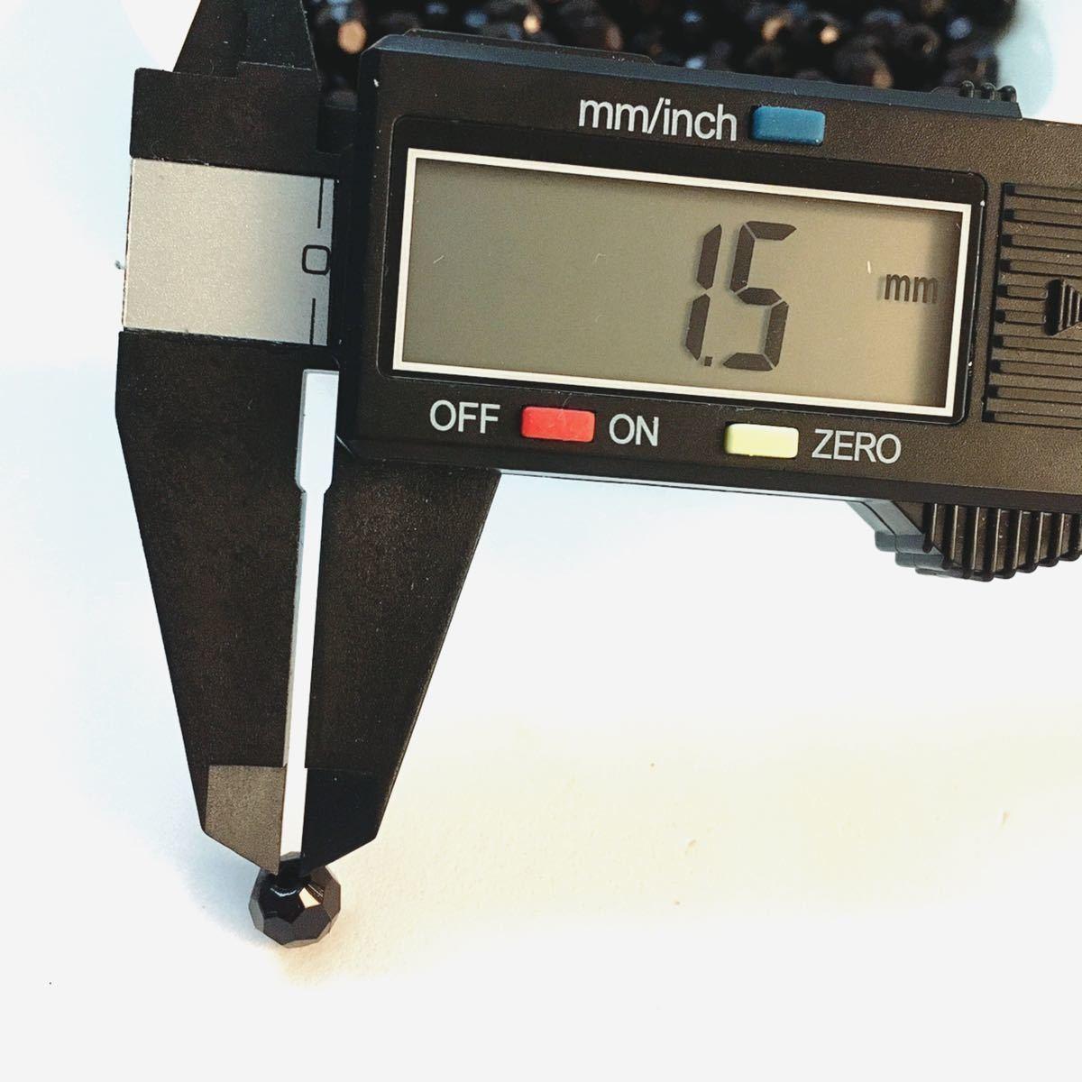 【ビーズパーツ】8mm角丸アクリルビーズ 32面カット(ブラック)200コ