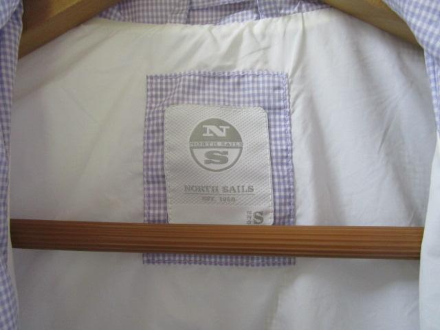 NORTH SAILS ノースセイル ナイロンジャケット Sサイズ ラベンダー ギンガムチェック ジャンパー 裾リブ付き_画像5