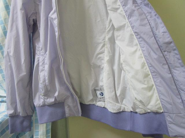 NORTH SAILS ノースセイル ナイロンジャケット Sサイズ ラベンダー ギンガムチェック ジャンパー 裾リブ付き_画像2