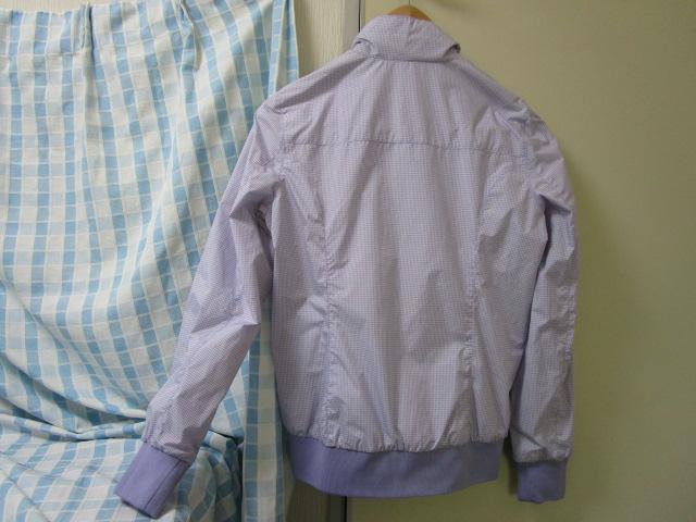 NORTH SAILS ノースセイル ナイロンジャケット Sサイズ ラベンダー ギンガムチェック ジャンパー 裾リブ付き_画像7