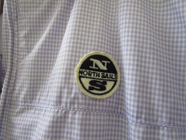 NORTH SAILS ノースセイル ナイロンジャケット Sサイズ ラベンダー ギンガムチェック ジャンパー 裾リブ付き_画像6