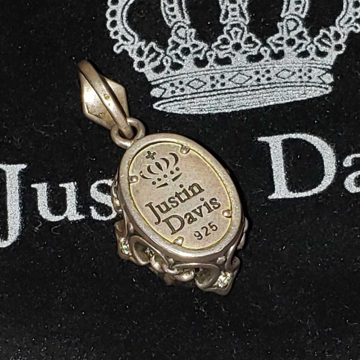 (ギャラ有)正規品◆美品 Justin Davis ジャスティンデイビス 大粒ジルコニア&シルバー925 ペンダントトップ_画像4