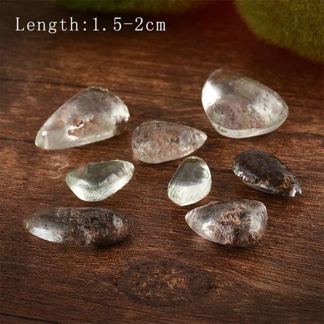 ◆1円スタート◆天然石ゴーストファントム水晶宝石標本ヒーリング石ペンダント素敵ギフト石コレクション長さ 1.5-2 センチメートル KS5425_画像6
