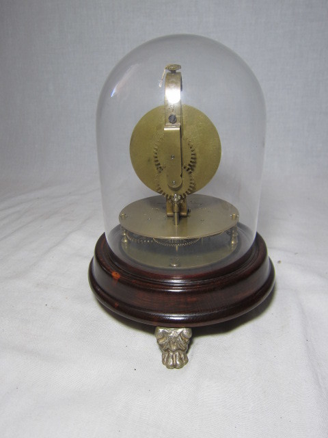 KI レトロ アンティーク 動作品 珍品 ゼンマイ式 球体振り子の 回転置き時計_画像5