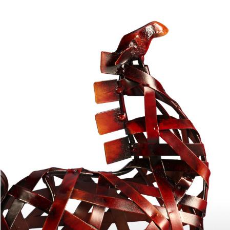 k1115 金属の馬の置き物 金属 ヴィンテージ 家の装飾 動物 オフィス インテリア ギフト_画像2