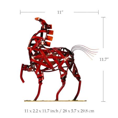 k1115 金属の馬の置き物 金属 ヴィンテージ 家の装飾 動物 オフィス インテリア ギフト_画像4