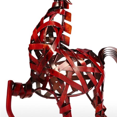 k1115 金属の馬の置き物 金属 ヴィンテージ 家の装飾 動物 オフィス インテリア ギフト_画像6