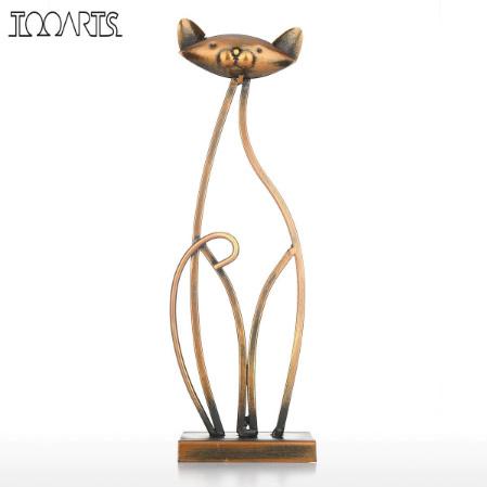 k1168 金属の猫の置き物 鉄 リビング ヴィンテージ 家の装飾 動物の置物 インテリア ギフト_画像1