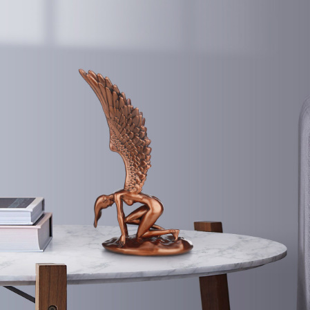k1169 天使の置き物 家の装飾 インテリア ギフト 置物 樹脂 _画像6
