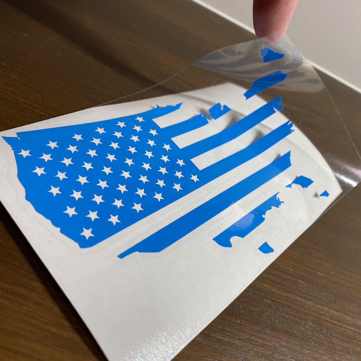 アメリカ 国旗 シルエット ステッカー_画像2