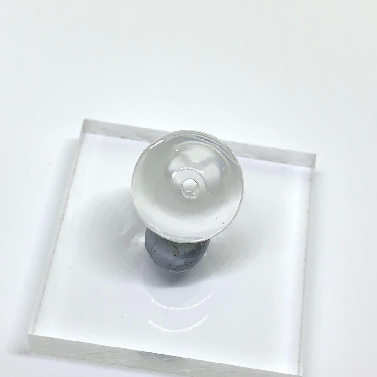アマビエ様 天然石水晶彫 ビーズ 10mm 2粒セット 期間限定品