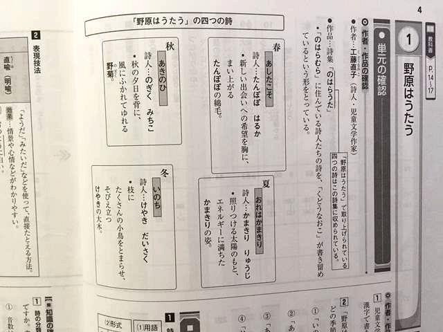 うたう 野原 は 「教科書に載っている本~中学校の国語の教科書~」図書リスト 奈良県立図書情報館