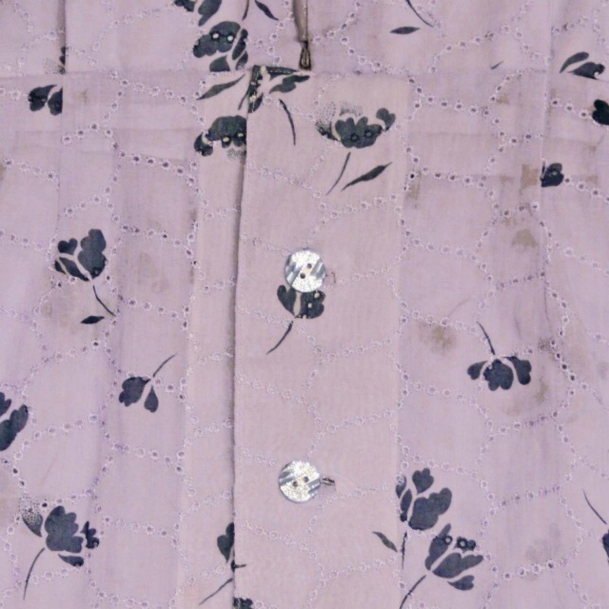 レトロ 古着 ワンピース 半袖 小花柄 ひざ丈ワンピース 3-7