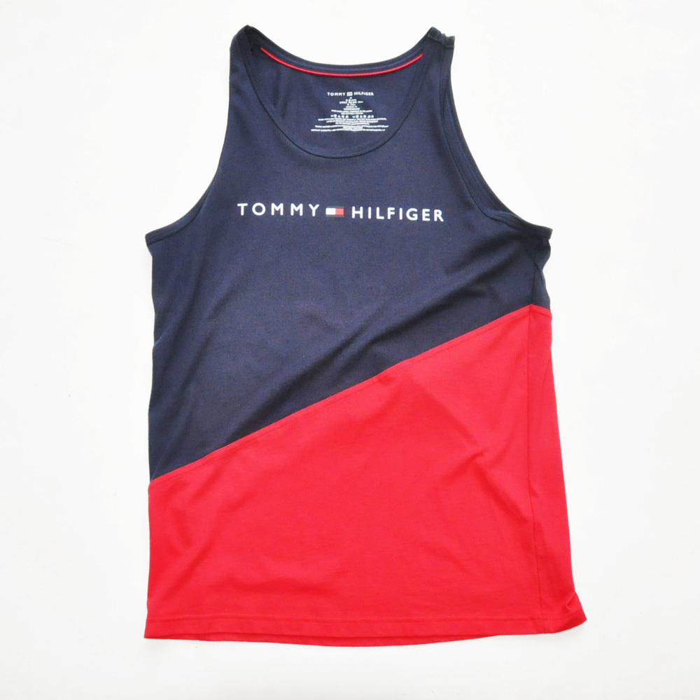 TOMMY HILFIGER/トミーヒルフィガー カラー切り返し タンクトップ_画像1