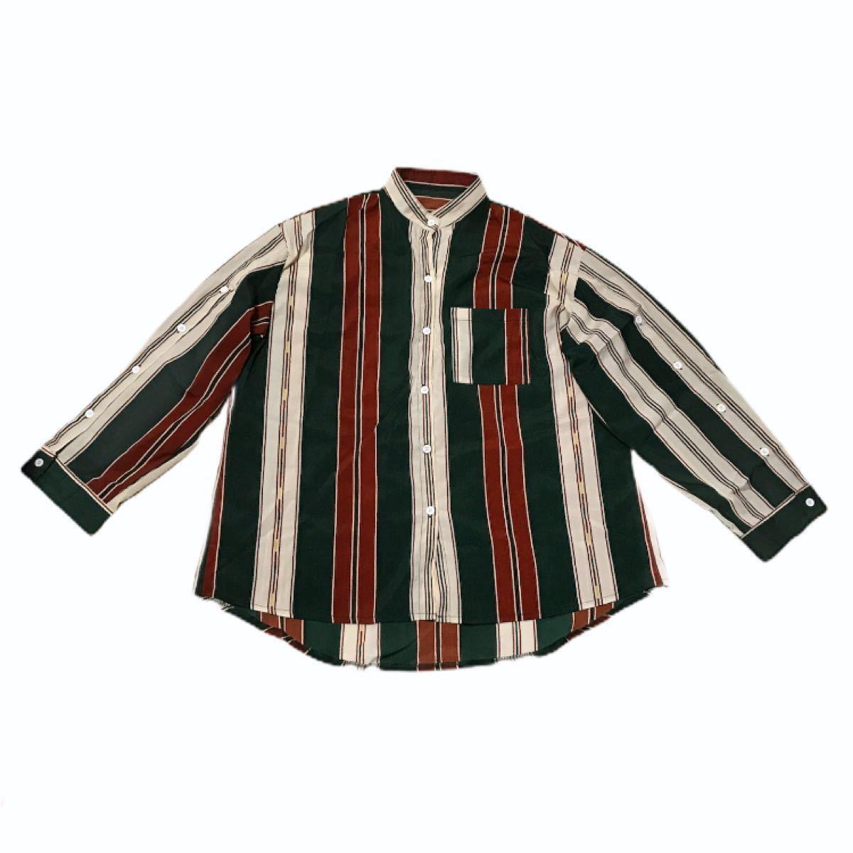 長袖シャツ オーバーサイズ シャツ