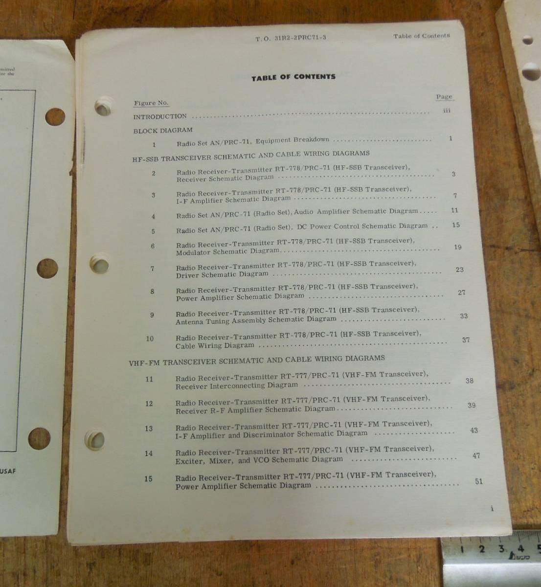 米空軍 AN/PRC-71用 T.O. (技術指令書)2冊まとめて  ⑧_画像3