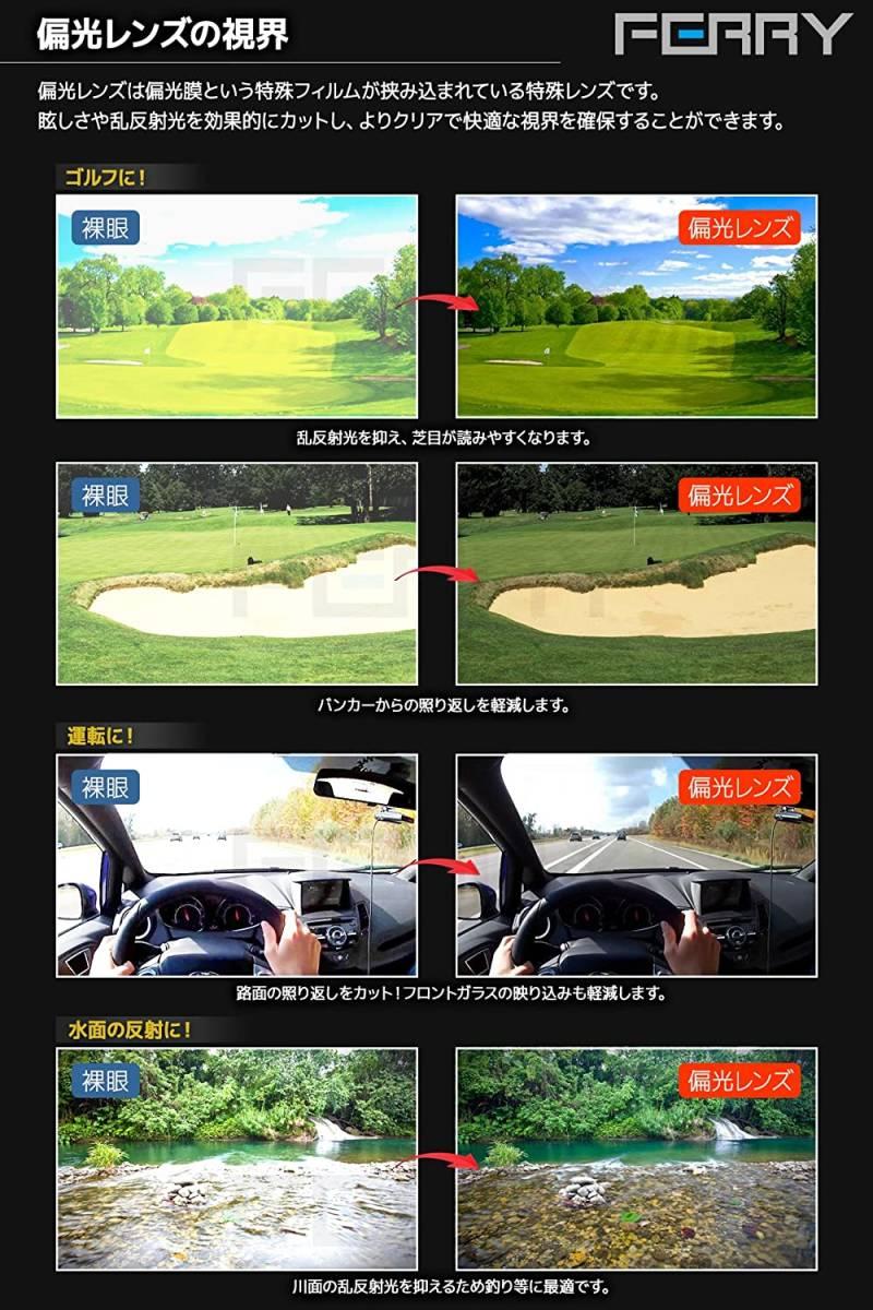【送料無料】(フェリー) FERRY 偏光レンズ スポーツ サングラス フルセット専用 交換レンズ5枚 ネオンブルー 青 ブラック 黒
