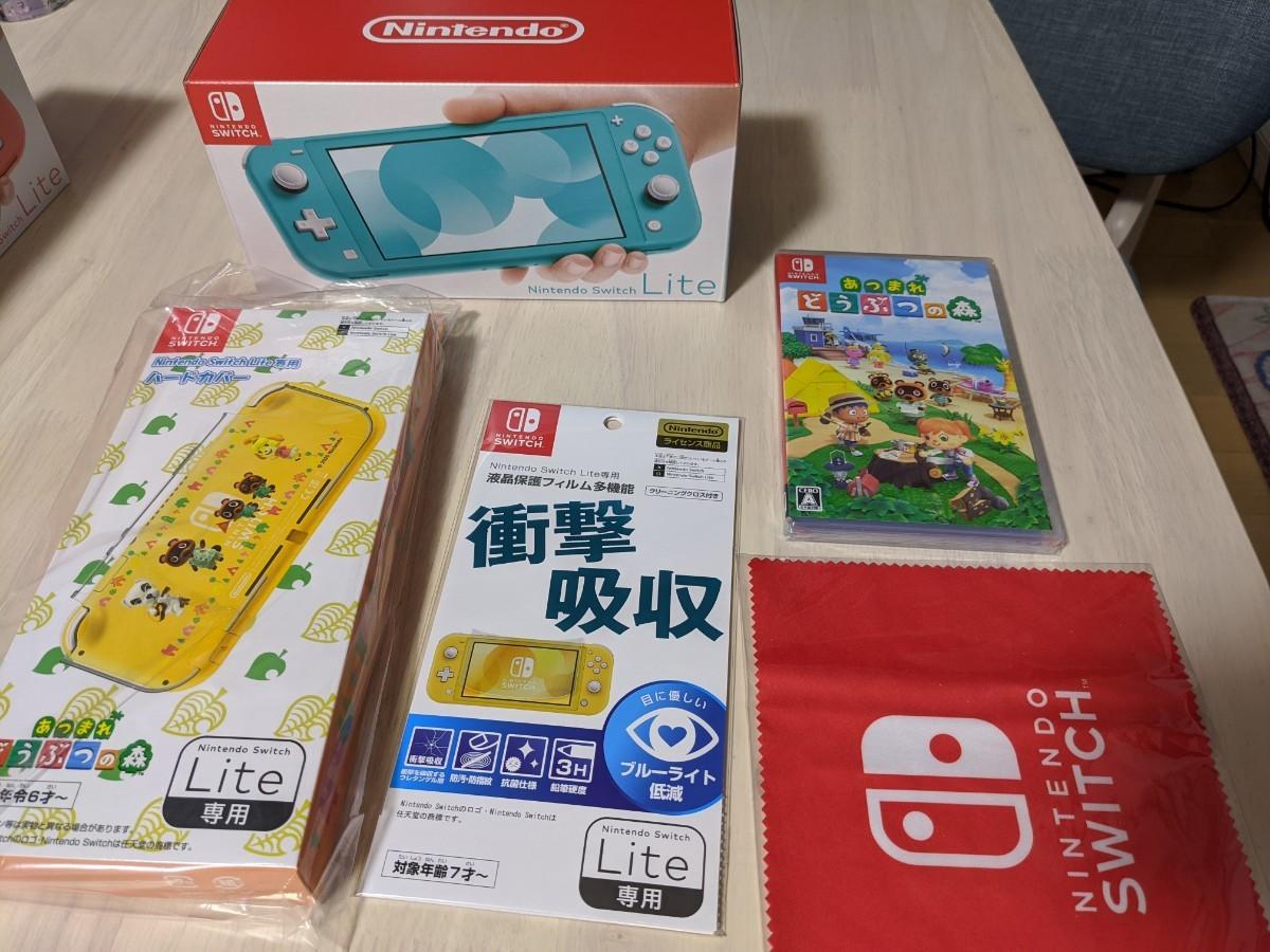 Nintendo Switch Lite ターコイズ&あつまれ どうぶつの森