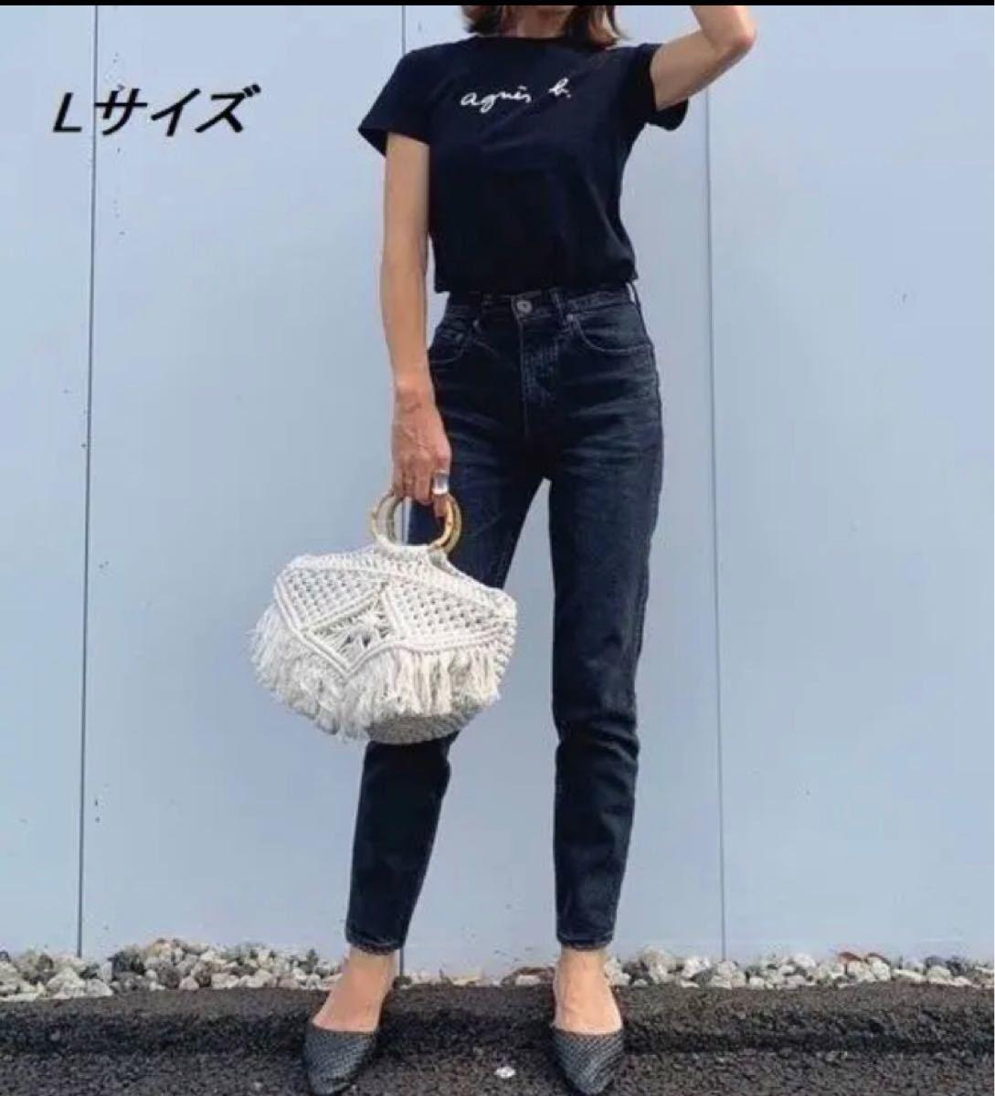 【Agnes b】アニエスベー★Tシャツ・Lサイズ★レディース★ブラック