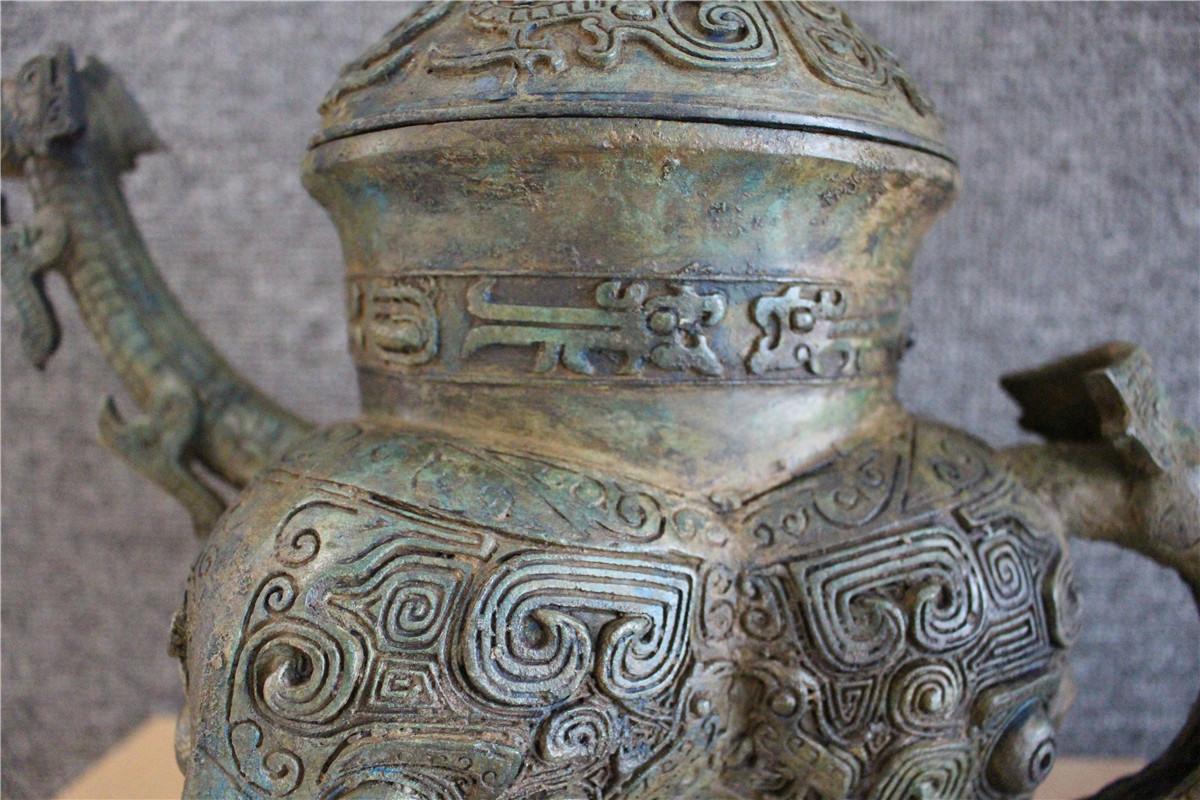 古美術品 西周 青銅器銘文三足壷_画像3