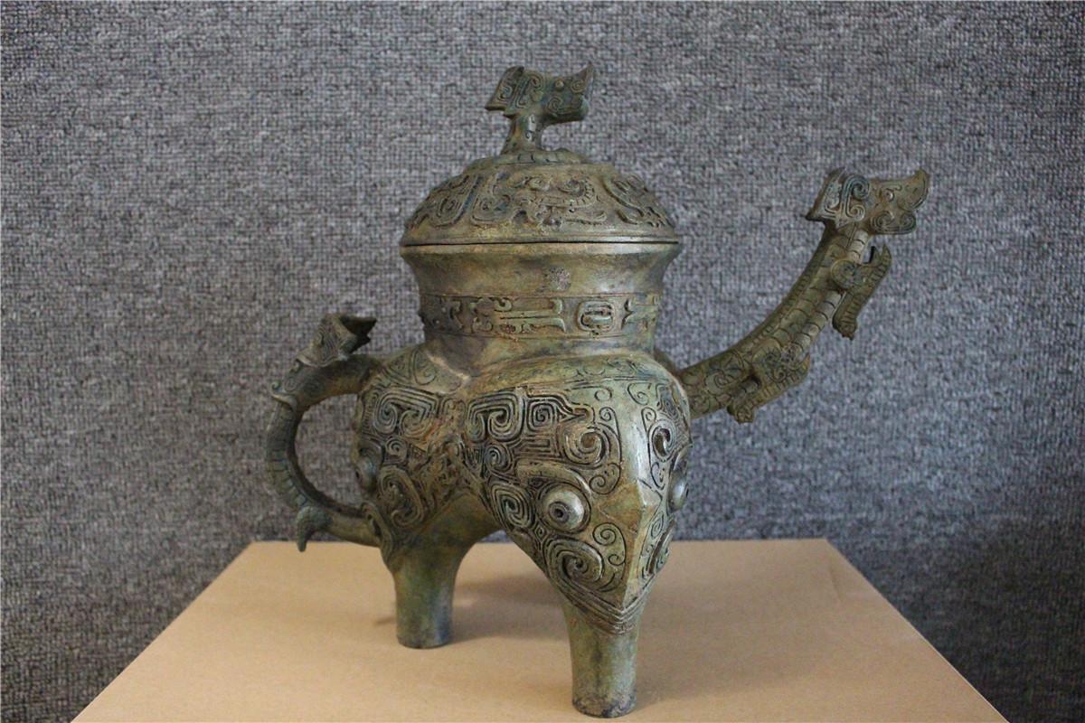 古美術品 西周 青銅器銘文三足壷_画像6