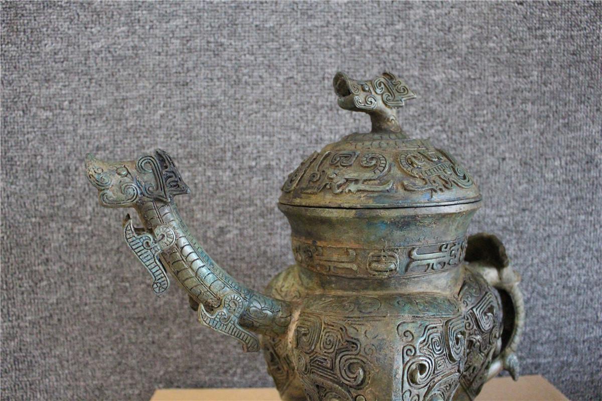 古美術品 西周 青銅器銘文三足壷_画像5