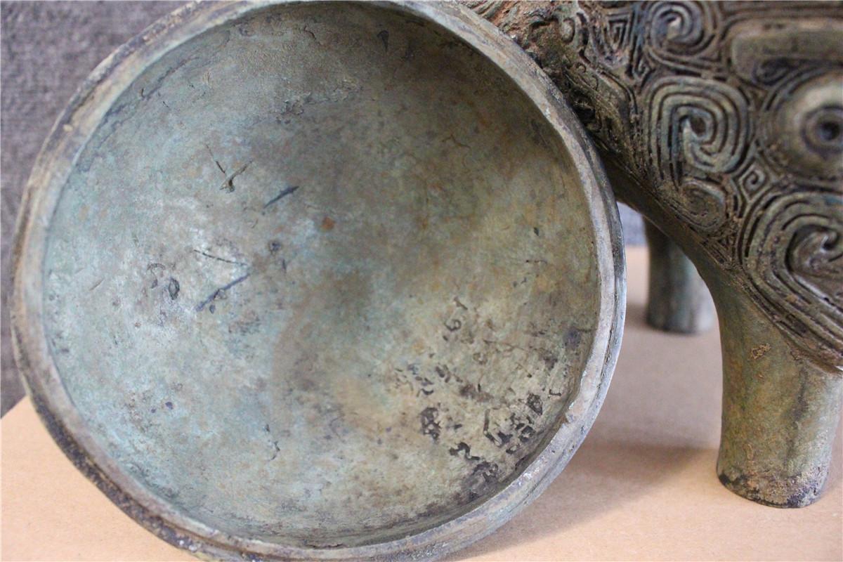 古美術品 西周 青銅器銘文三足壷_画像9