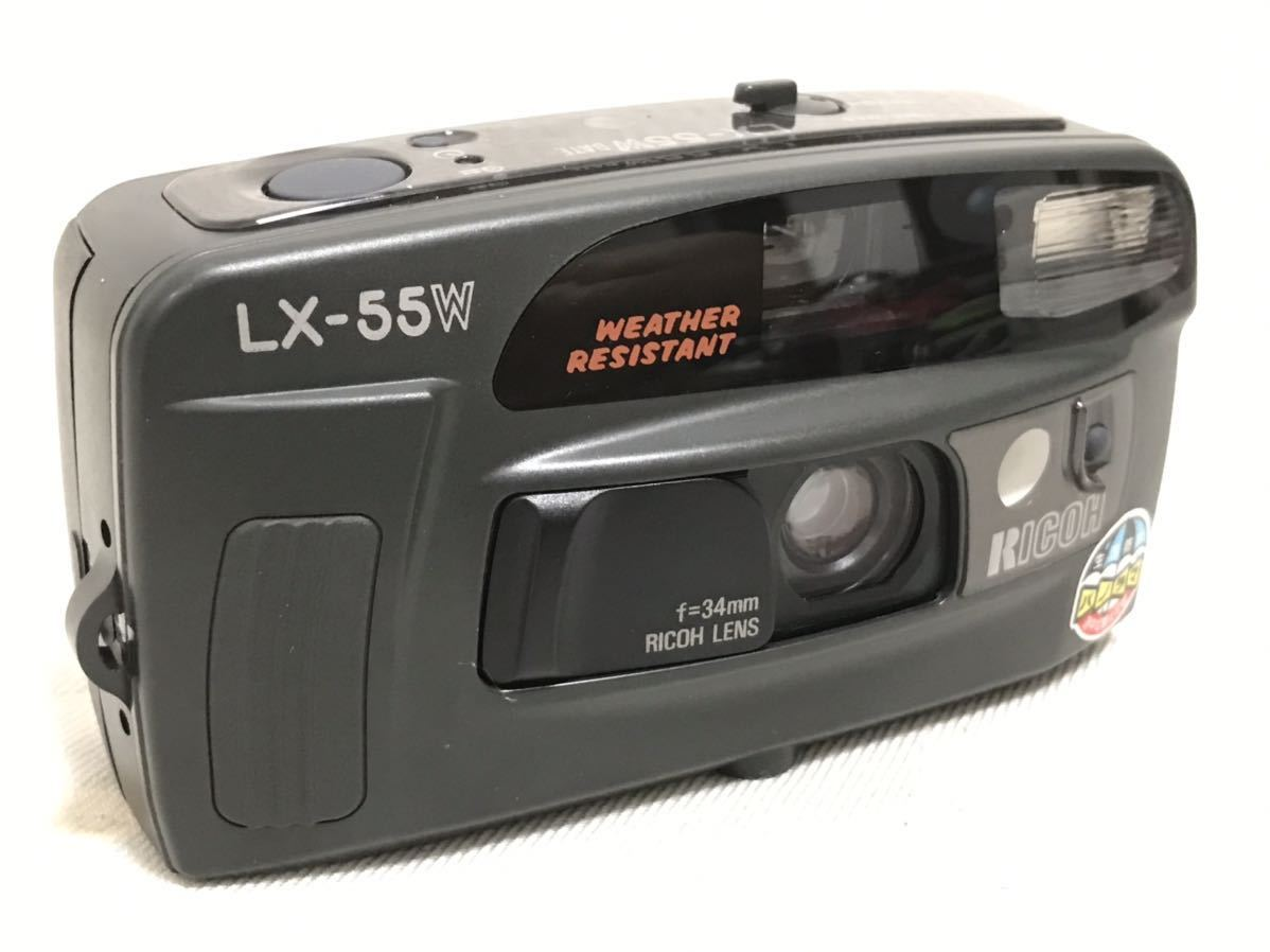 RICOH リコー LX-55W DATE 34mm コンパクトフィルムカメラ 動作確認済 153a0635_画像2