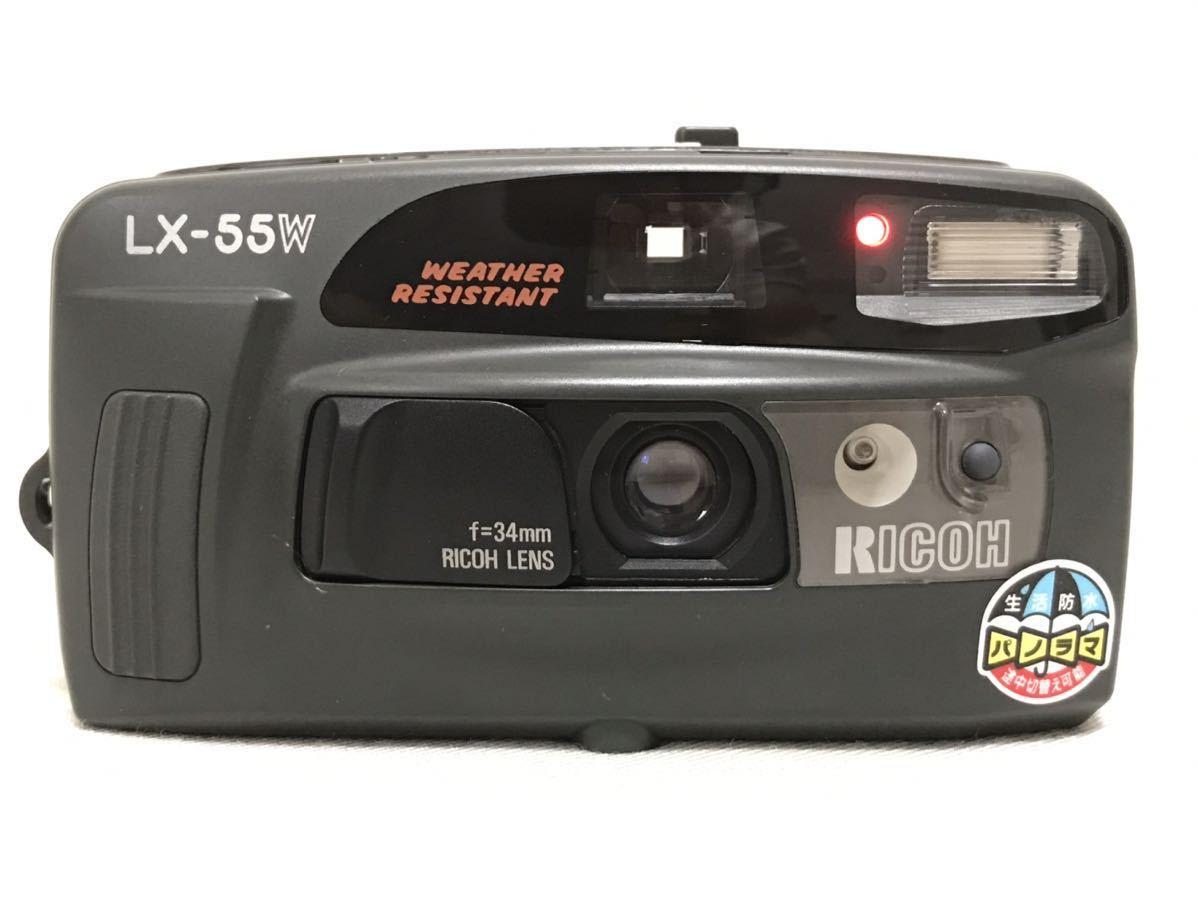 RICOH リコー LX-55W DATE 34mm コンパクトフィルムカメラ 動作確認済 153a0635_画像1