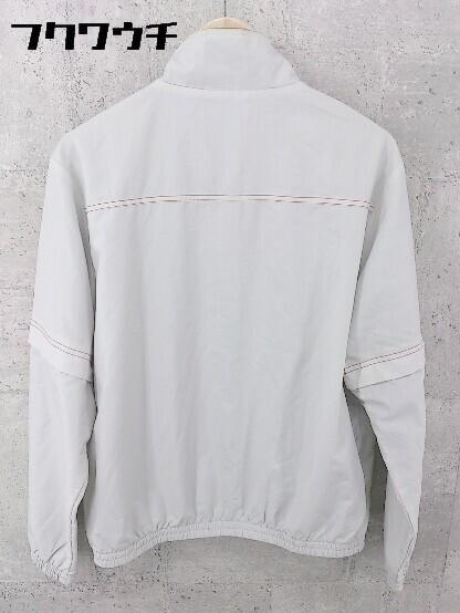 ◇ le coq sportif ルコックスポルティフ ロゴ 刺繍 長袖 ジップアップ ジャケット サイズM グレー レッド メンズ_画像2