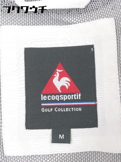 ◇ le coq sportif ルコックスポルティフ ロゴ 刺繍 長袖 ジップアップ ジャケット サイズM グレー レッド メンズ_画像4