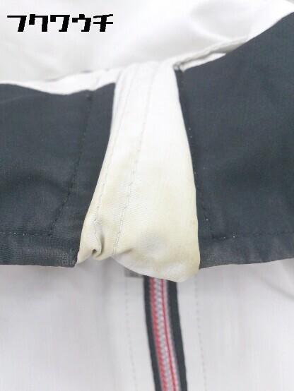 ◇ le coq sportif ルコックスポルティフ ロゴ 刺繍 長袖 ジップアップ ジャケット サイズM グレー レッド メンズ_画像6