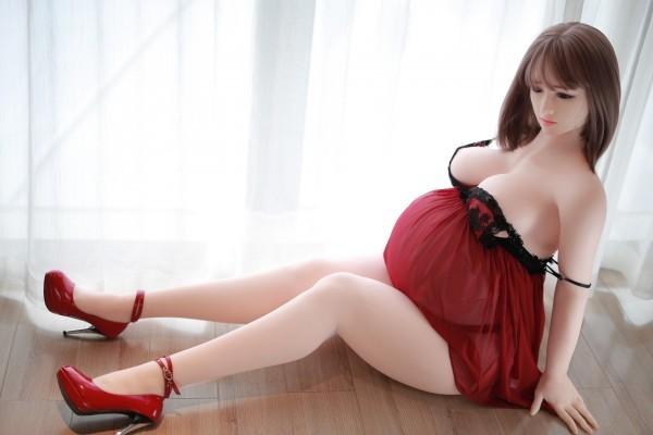 【 フルボディ】等身大のセクシー妊娠人妻 フィギュア マネキン ドール 撮影や一人暮らしのインテリアに 【組立不要】  _画像5
