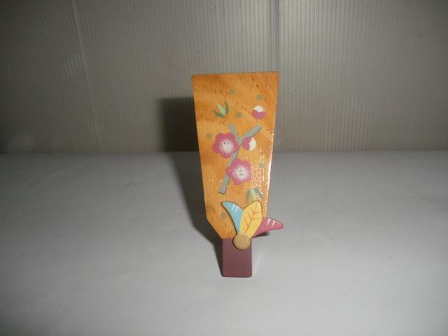 @@希少 ミニ 羽子板 ミニ羽子板 アンティーク コレクション 梅の絵 インテリア 雑貨 飾り物 ディスプレィ 木工 _画像1