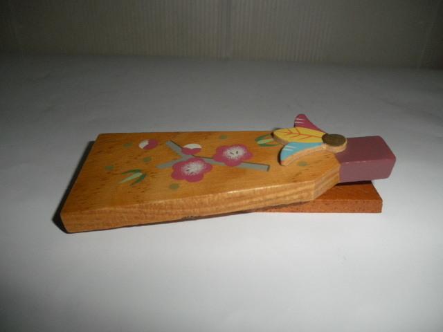 @@希少 ミニ 羽子板 ミニ羽子板 アンティーク コレクション 梅の絵 インテリア 雑貨 飾り物 ディスプレィ 木工 _画像5