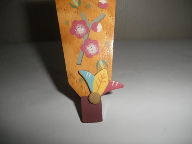 @@希少 ミニ 羽子板 ミニ羽子板 アンティーク コレクション 梅の絵 インテリア 雑貨 飾り物 ディスプレィ 木工 _画像6