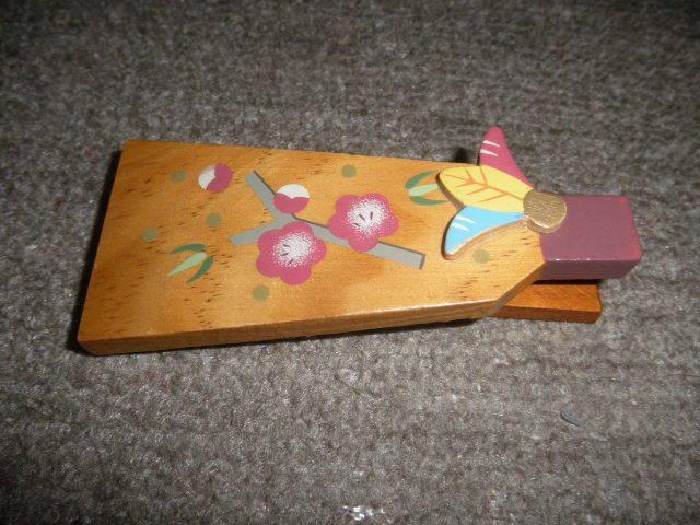 @@希少 ミニ 羽子板 ミニ羽子板 アンティーク コレクション 梅の絵 インテリア 雑貨 飾り物 ディスプレィ 木工 _画像7