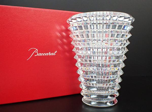 XB5 Baccarat バカラ EYE アイベース 花瓶 フラワーベース クリスタルガラス 高さ14.5cm 箱付_画像1