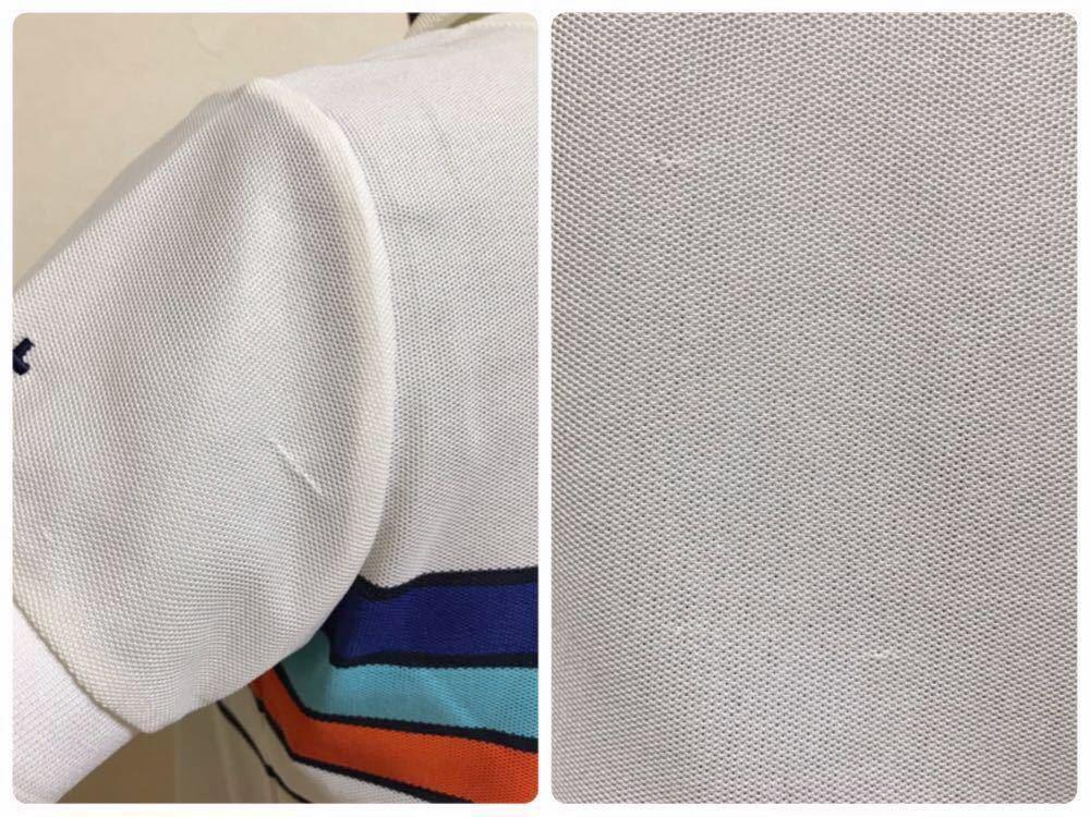 le coq sportif GOLF COLLECTION Smart Fit ルコック ゴルフ ウェア レディース ドライ ポロシャツ サイズM 半袖 白 QGL1866_数カ所ツレあり