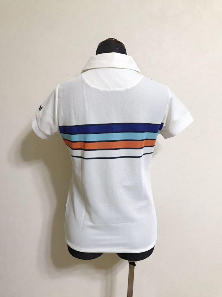 le coq sportif GOLF COLLECTION Smart Fit ルコック ゴルフ ウェア レディース ドライ ポロシャツ サイズM 半袖 白 QGL1866_画像2