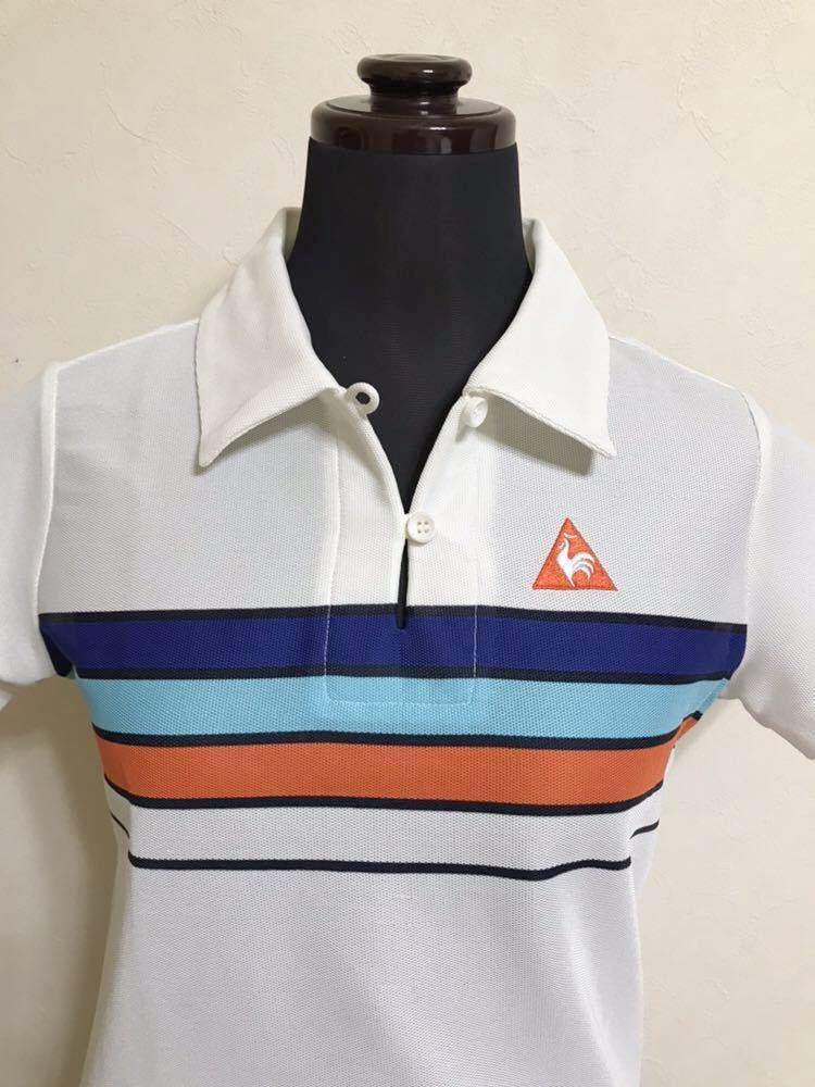 le coq sportif GOLF COLLECTION Smart Fit ルコック ゴルフ ウェア レディース ドライ ポロシャツ サイズM 半袖 白 QGL1866_画像3