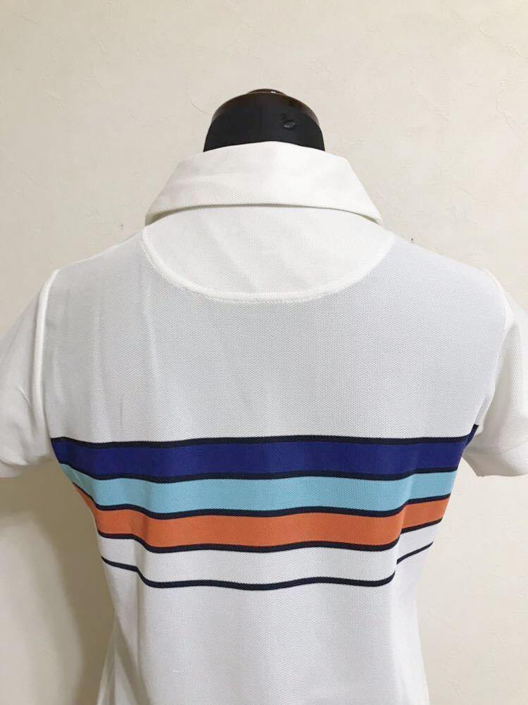le coq sportif GOLF COLLECTION Smart Fit ルコック ゴルフ ウェア レディース ドライ ポロシャツ サイズM 半袖 白 QGL1866_画像4