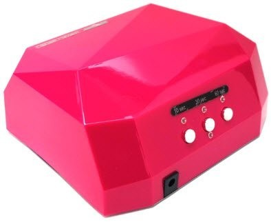 【1円】LEDライト36W ネイルドライヤー ジェルネイルライト レジン 自動センサー搭載 タイマー付きハイパワー 硬化ライト ピンク_画像1