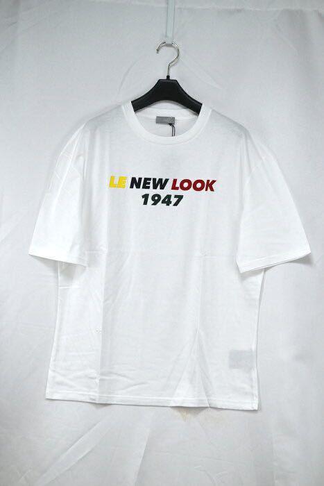 【未使用】DIORHOMME ディオールオム LE NEM LOOK 1947 Tシャツ ホワイト Mサイズ コットン100% Tシャツ デニム ショーパン レザー