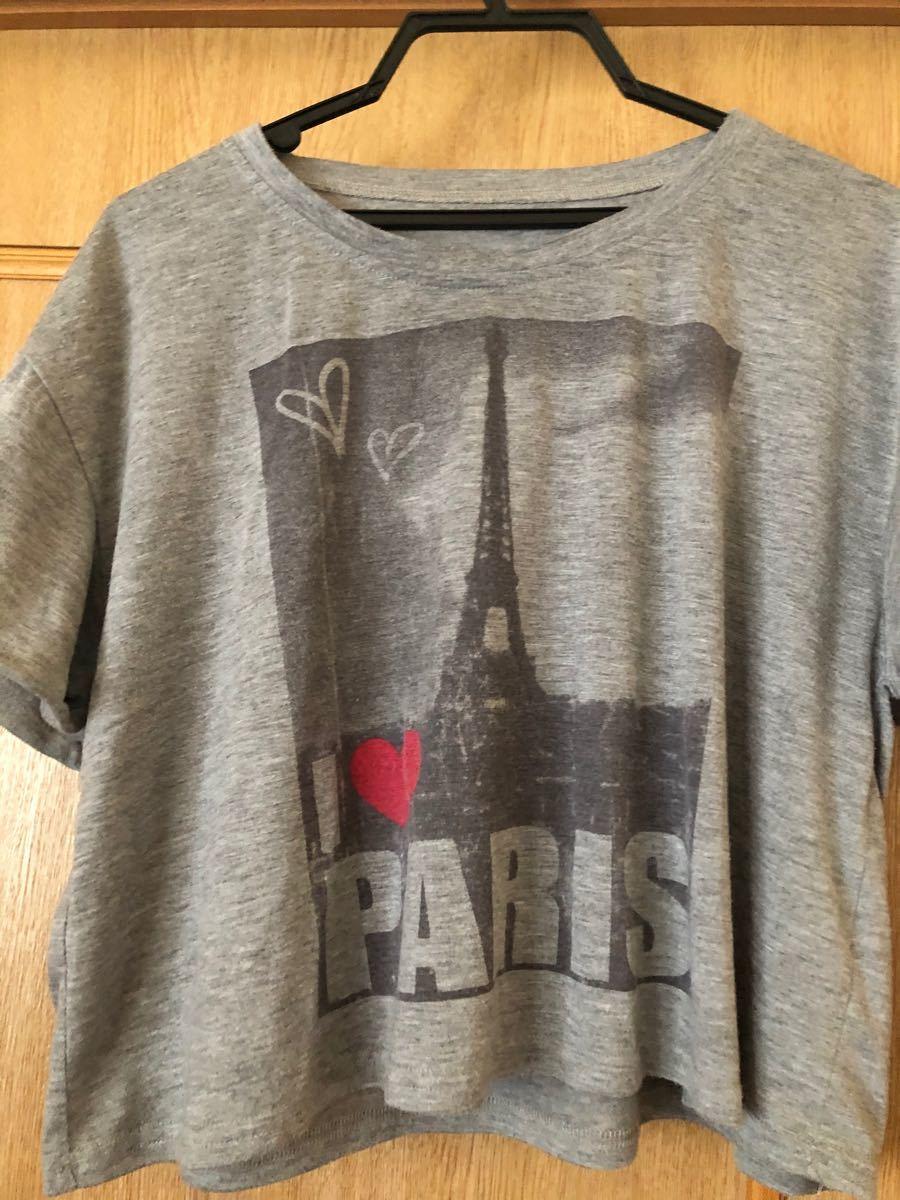 トップス  半袖Tシャツ デザイン ショート